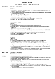 Payroll Resume Samples Velvet Jobs