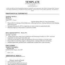Housekeeper Resume Resume For Hotel Housekeeping Job Therpgmovie 18