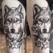 Dotwork Wolf Tattoo By Krofty At The Tattooed Arms Lincoln Uk