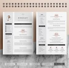Business infographic : Professional Resume Template for Word 1 & 2 Page CV  Template Icon Set Cover Letter