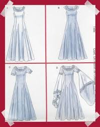 Medieval Dress Patterns Interesting OOP Medieval Dress PATTERN Eowyn Arwen LOTR SCA Prom McCalls 48