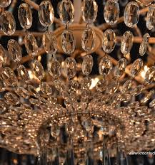 crystal basket chandelier with light fittings and candles
