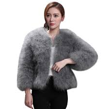 2019 female jacket women faux fur ostrich feather soft fur coat jacket fluffy winter xmax warm fashion solid big size outwear from cfendou 34 55 dhgate