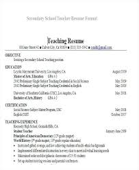 Student Teaching On Resume