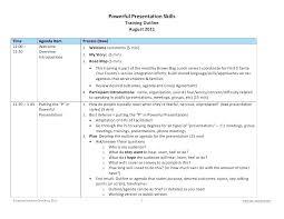 Training Course Agenda Template Sales Training Agenda