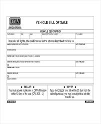 Vehicle Bill Of Sale Form Interesting Bill Of Sale Dmv Engneeuforicco