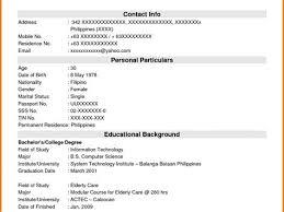 Resume Sample And Template Database Costumepartyrun