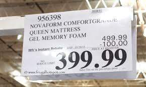novaform comfort grande queen. novaform comfort grande 14\u2033 gel memory foam mattress costco price queen m