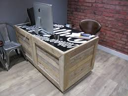 wooden pallet furniture ideas. How To Build A Desk From Wooden Pallets \u2013 DIY Pallet Furniture Ideas : Home Office