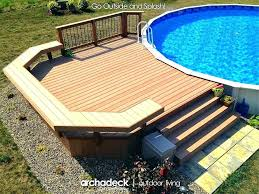 average cost to build a deck around an above ground pool building how step by p