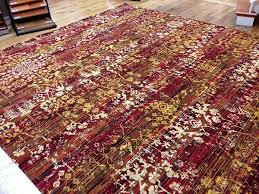 custom area rug red and gold contemporary rug