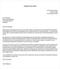 Cover Letter For Community Service Cover Letter Community Services Sample Social Work Cover Letter