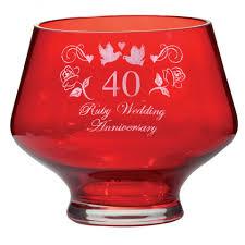 royal scot crystal ruby heeled bowl ruby wedding anniversary gift boxed