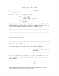 Employee Write Up Form Template Inspirational Corrective Action