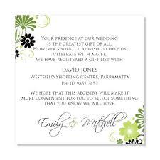 wedding gift registry wording wedding invitation gift wedding registry wording exles elegant wedding invitation wording