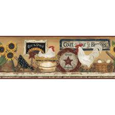 Kitchen Wallpaper Borders York Wallcoverings Hen And Rooster Wallpaper Border Cb5539bd The