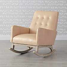 everly leather tufted rocking chair kids
