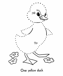 Easter Dot To Dot Coloring Activity Pages Kids Easter Duckling