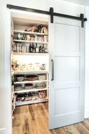 barn door pantry incredible sliding doors to butlers kitchen transitional with walk in frosted menards trans
