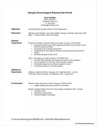 Free Sample Chronological Resume Format Resume Resume Examples In