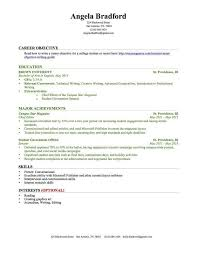 College Student Resume Examples Little Experience Gentileforda Com