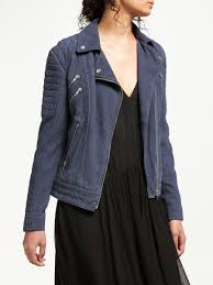 women and or tumbled leather biker jacket dark navy 19201601 ixjnqnr
