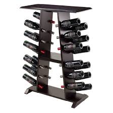 rustic wine rack wall mounted wood wine