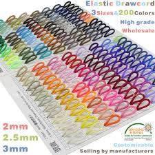 Us 3 9 20 Off 3 Sizes Bungee Elastic Drawcord For Garment Shoe Bag Gift Box Craft 200 Colors 2mm 2 5mm 3mm Eco Friendly Colorfast In Cords From Home