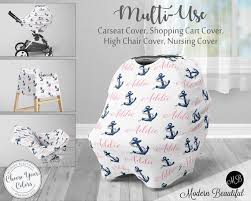 anchor car seat canopy cover girl