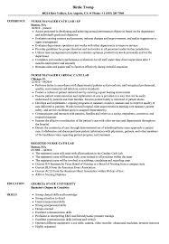Cath Lab Nurse Sample Resume Cath Lab Nurse Resume Samples Velvet Jobs 6