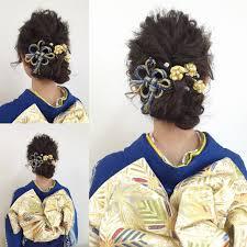 自分で出来る成人式向け着物に合わせる簡単ヘアアレンジhair