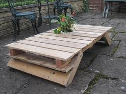 diy pallet patio table with folding