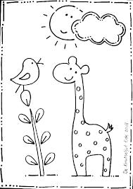 Maan Kleurplaat Giraffe En Ma By E En Shshiinfo