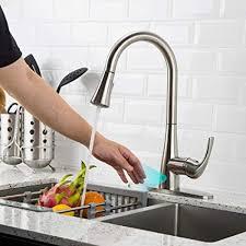Touch kitchen faucets Delta Faucet Touchless Kitchen Faucet With Pull Down Sprayer Kitchen Sink Faucet With Pull Out Sprayer Amazoncom Touchless Kitchen Faucet With Pull Down Sprayer Kitchen Sink Faucet