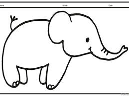 Cute Baby Elephant Animal Coloring Page For Kids Animal Cute