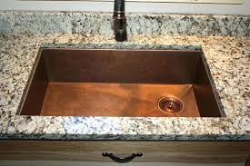 copper sink under mount with rear corner drain pipe how to clean a diy sin