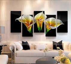 calla lily flower 3d metal oil painting
