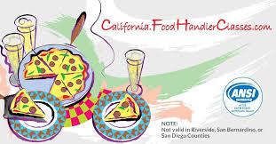california food handlers card 7 00