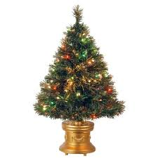 National Tree Company 3 ft. Fiber Optic Ice Artificial Christmas Tree with  Multicolor Lights-SZIX7-102-36-1 - The Home Depot
