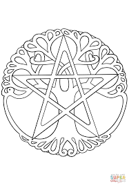 Small Picture Wiccan Tree of Life coloring page Free Printable Coloring Pages