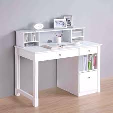 desk walker edison deluxe wood desk with hutch white 399 narrow desk with drawers white