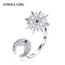 <b>Strollgirl 100</b>% 925 <b>Sterling Silver</b> Engagement Ring Sparkling ...
