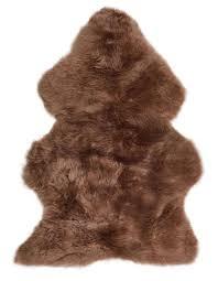 extra large uk made super soft genuine real sheepskin rug chocolate brown