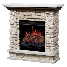 image of stone electric fireplace decor