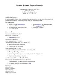 Nurse Resume Objectives Samples Registered Example Graduateent