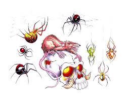 Black Outline Spider Tattoo Sample Tattoo 21