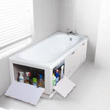 Bathroom Suites Ebay White Tidyaway Storage Bath Panel 1700mm Front 700mm End Seat