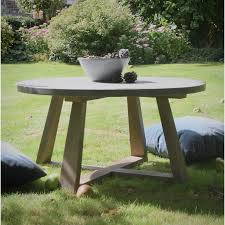 outdoor polished concrete wood dining