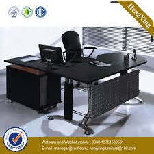 tempered glass office desk. Office Furniture Executive Black 15mm Thickness Tempered Glass Top Modern Desk NS-NW115 U