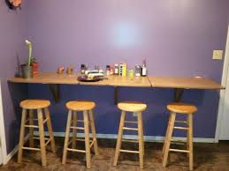 decorative wall mounted folding breakfast bar with table great mounted wall table